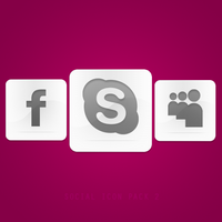 15 Social Icon Pack -White- by azad720