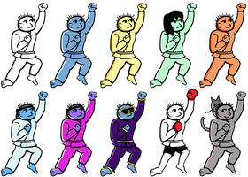 Karate Joe + Recolors! *Update* by Thelimomon