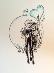 Wiccan and Hulkling by BillWalko