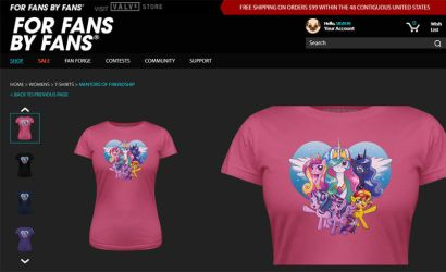 Offiicially licensed My Little Pony shirts! by MaryBellamy