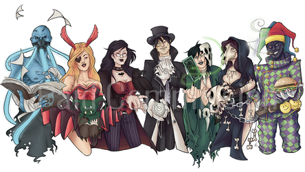 [Commission] The Gang is All Here by Highwind-Valor