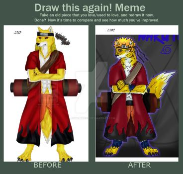 Meme  Before And After by ookamitefis