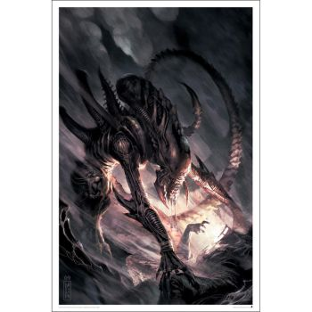 Aliens Issue #3 Comicbook Cover Lithograph Ltd Ed by TheDaggersTip