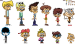 The Loud House Genderbent Character Sprites by kevin42135