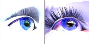 The eyes have it (eye study) by JohnMo