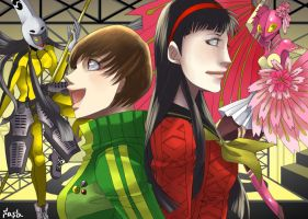 Yukiko and Chie by sasapen