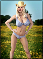 Hot Cowgirl !  Jessica ! (Deafult and Fixed? ) by CyberBrian360