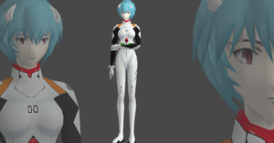Rei Ayanami plug-suit Hi-poly plus new textures by OTsunaO