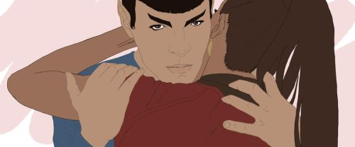 Study: Spock and Uhura by ceres-de-rehka