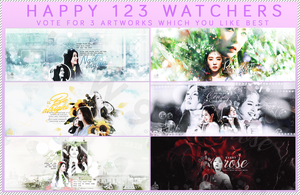 //SHARE PSD // HAPPY 123 WATCHERS by JTW901110