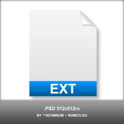 Filetype Icon PSD by schmrom