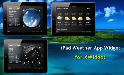 iPad Weather App Widget for xwidget by Jimking