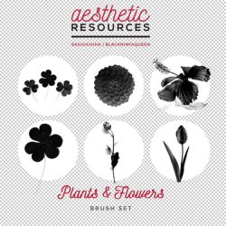 Plants and Flowers Brush Set by aestheticrsc