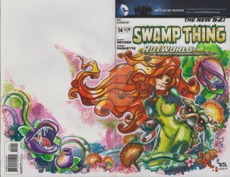 Poison Ivy and Swamp Thing Art Cover by Dve6