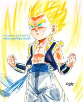 Going Super Saiyan- Gotenks by Mark-Clark-II