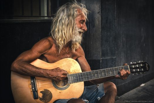 The Old Guitarist by Miguel-Santos