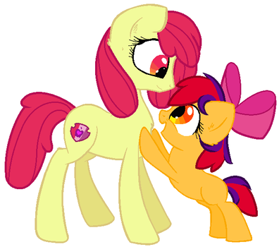 Apple Bloom and Apple Crisp by LilyArtist11