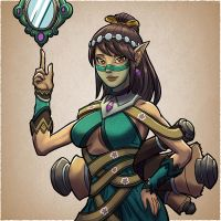 Ying the Illusionist mage by M-Katar