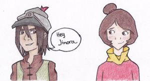 Jinora and Skoochy by 106Eli
