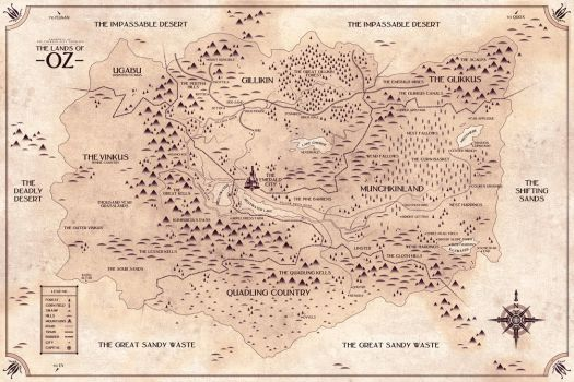 Map of Oz by FabledCreative