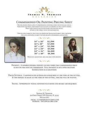 Commissioned Oil Painting Price Guide by thomsontm