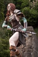 Aela the Huntress 03 by static-sidhe