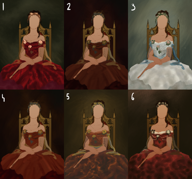 Dress concepts - color by NiechPlonie