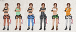 Tomb Raider III Outfits by PixyDee123