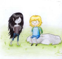 Hey! (Marceline and Finn) by ColorfulGuitar