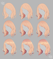 Hair Shading Tutorial by SmolQueenBean