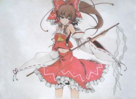 Hakurei Reimu - Shrine Maiden of Paradise (Color) by Andy-chanWantToDraw