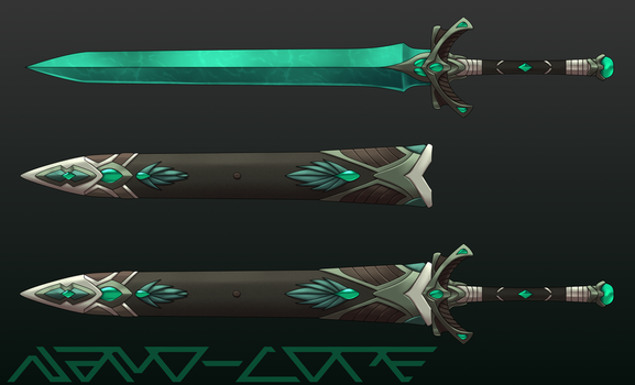 Turquoise Sword Auction Adopt (closed) by Nano-Core
