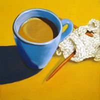 knitting and coffee by classina