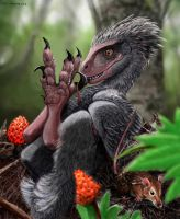 When Chickens Ruled: raptor dinosaur by Psithyrus