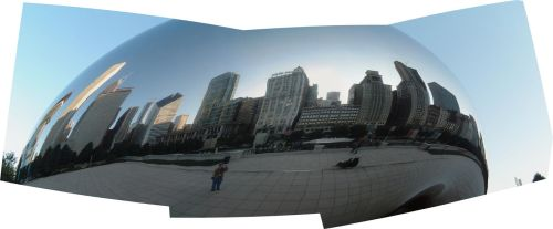 A Panoramic View of Cloud Gate by Dancing-Treefrog