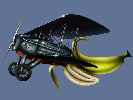 Banana Plane by messthem