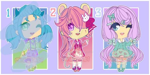 Adoptables OPEN (2/3) [POINT OR PAYPAL] by Myshumeaw