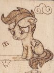 Scootaloo Pyrography by Malte279