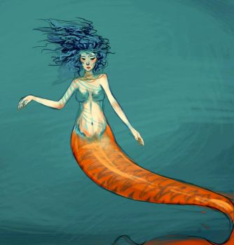 voluptuous merm by Fwoot