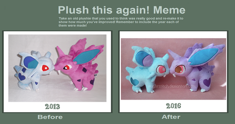 Plush This Again: Nidoran Edition by sugarstitch