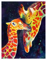 Giraffes by TooMuchColor