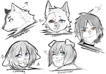 Free Headshots Sketches by b3astbeat