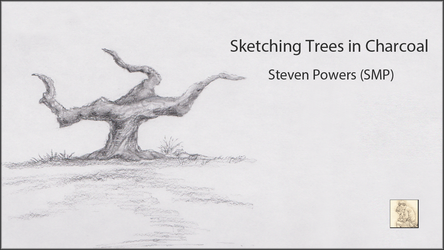 Sketching Trees in Charcoal by Steven-Powers-SMP