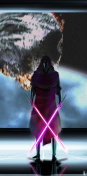 Kylo Ren, Lord Revan is taking back his old mask by Daephius