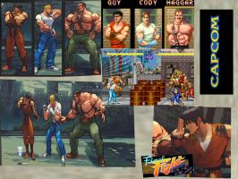 SF Final Fight Costume Pack by monkeygigabuster