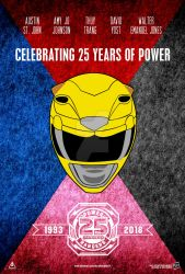 Power Rangers 25th Anniversary Poster (FAKE) by AkiraTheFighter24