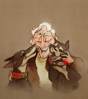 Muntz and His Amazing Dogs by rollingrabbit