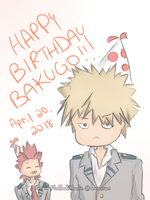 Happy B-day Bakugo! by FluffballCharlie