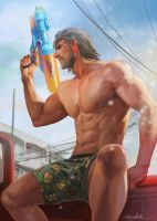 Master Songkran Day 2017!! by aenaluck