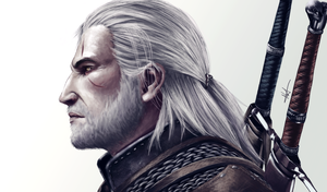 Geralt of Rivia (digital) by YellowMmallow